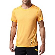 Mens Reebok CrossFit Tri-Blend Solid Short Sleeve Technical Tops