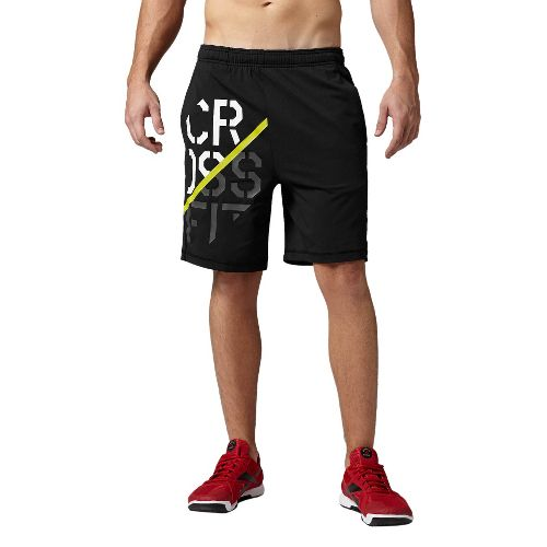 Mens Reebok CrossFit Knit Speedwick Unlined Shorts - Black L
