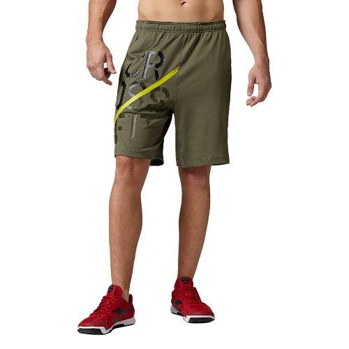 Mens Reebok CrossFit Knit Speedwick Unlined Shorts - Olive M