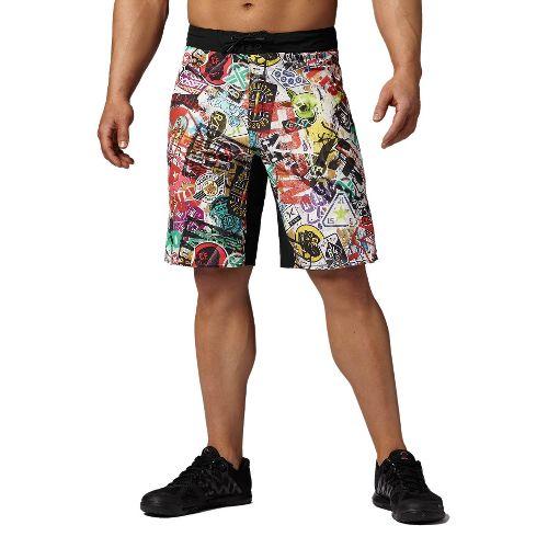 Mens Reebok CrossFit Bonded Gusset Print Unlined Shorts - Multi 35