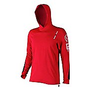 Mens Reebok CrossFit Pullover Hoody Long Sleeve No Zip Technical Tops