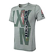 Mens Reebok CrossFit Tri-Blend Graphic Short Sleeve Technical Tops