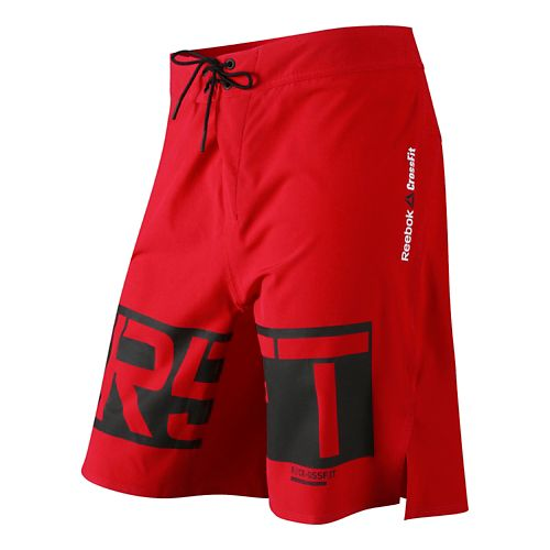 Mens Reebok CrossFit Graphic Core Board Unlined Shorts - Basic Red 37