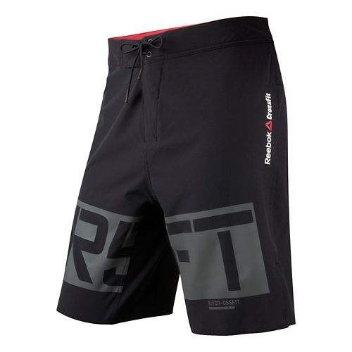 Mens Reebok CrossFit Graphic Core Board Unlined Shorts - Black Multi 38