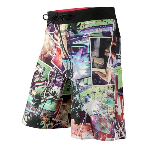 Mens Reebok CrossFit Allover Print Core Board Unlined Shorts - Multi 34