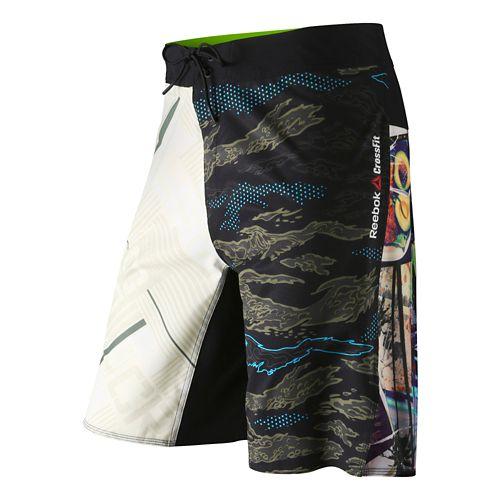 Mens Reebok CrossFit Mixup Print Core Board Unlined Shorts - Print 35