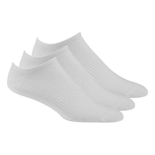 Mens Reebok CrossFit No Show Cotton 3 Pack Socks - White M