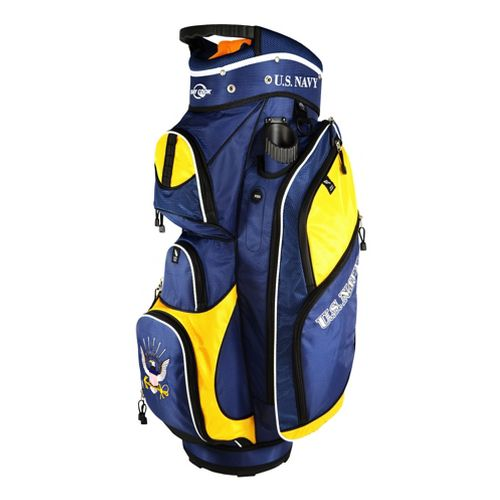 Ray Cook Golf Navy Cart Bags - Blue/Yellow