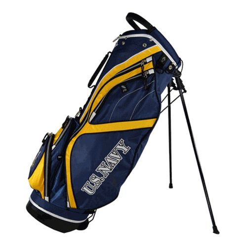 Ray Cook Golf Navy Stand Bags - Blue/Yellow