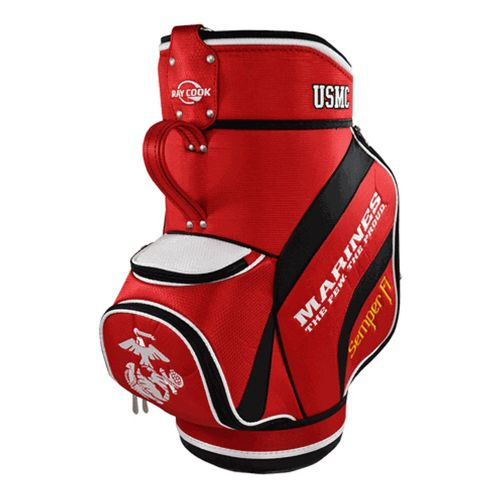 Ray Cook Golf Marines Den Caddy Bags - Red/Black
