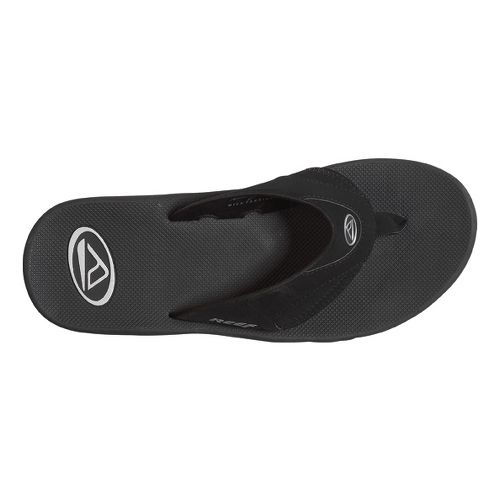 Mens Reef Fanning Sandals Shoe - Black/Silver 8