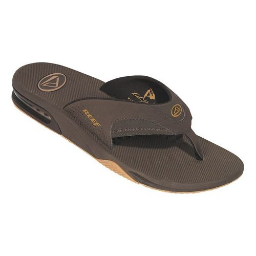 Mens Reef Fanning Sandals Shoe - Brown 10