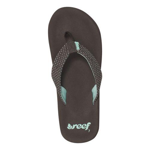 Womens Reef Seaside Sandals Shoe - Brown/Aqua 11
