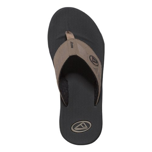 Mens Reef Phantoms Sandals Shoe - Black/Tan 8