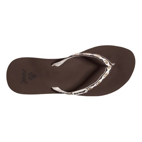 Womens Reef Ginger Sandals Shoe - Brown/Gold 5