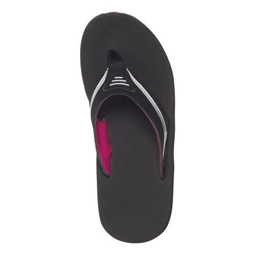 Womens Reef Slap 2 Sandals Shoe - Black/Silver 9