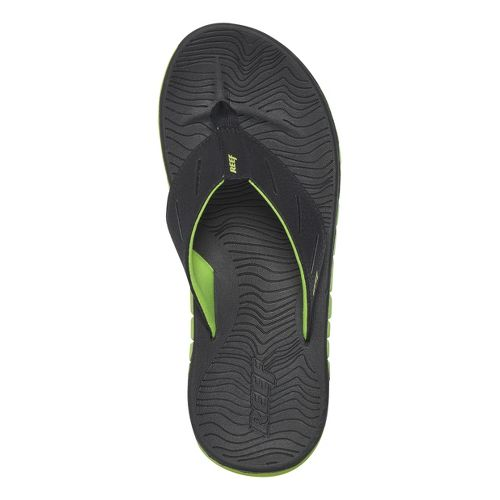 Mens Reef Rodeo Flip Sandals Shoe - Black/Lime 11