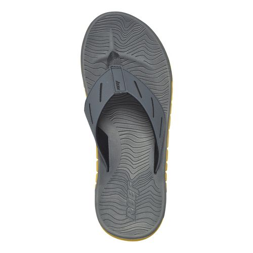 Mens Reef Rodeo Flip Sandals Shoe - Grey/Yellow 8