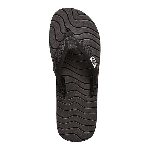 Mens Reef Roundhouse Sandals Shoe - Black/Black 8