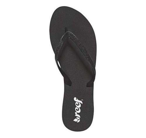 Womens Reef Stargazer Sandals Shoe - Black/Black 6