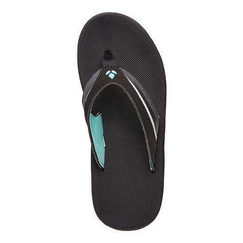 Womens Reef Slap 3 Sandals Shoe - Black/Aqua 10