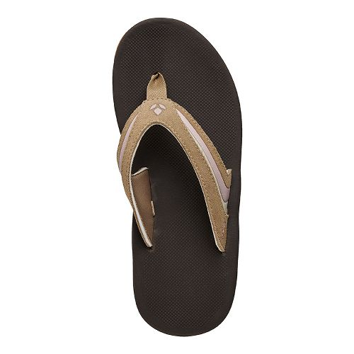 Womens Reef Leather Slap 3 Sandals Shoe - Sand/Pink 5