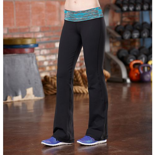 Womens R-Gear Run, Walk, Play Full Length Pants - Black/Laguna Blue XS