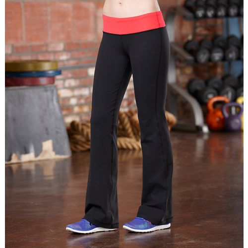 Womens R-Gear Run, Walk, Play Full Length Pants - Black/Poppy Pink M-T