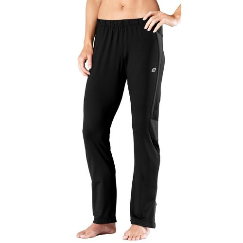 Womens Road Runner Sports Fast Track Full Length Pants - Black XL