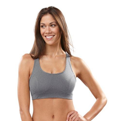 Womens R-Gear Rock Steady T-Back Sports Bra - Heather Charcoal 34C