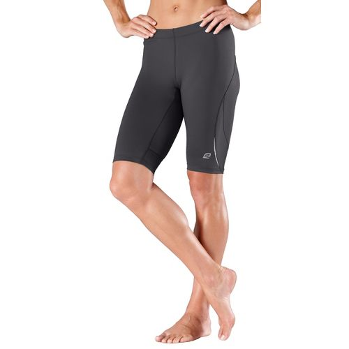 Womens R-Gear High-Speed Compression Knee Fitted Shorts - Charcoal S