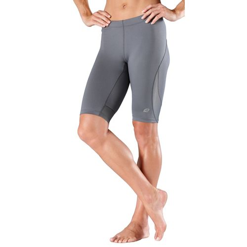 Womens R-Gear High-Speed Compression Knee Fitted Shorts - Grey L