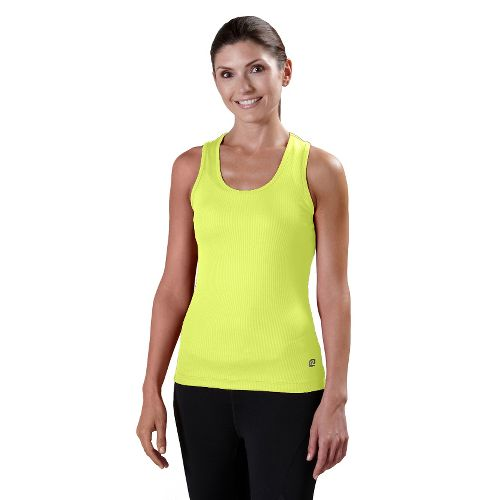 Womens R-Gear Everyday Favorite Scoop Tank Technical Tops - Citron L