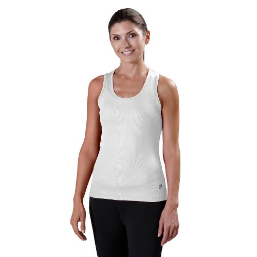 Womens R-Gear Everyday Favorite Scoop Tank Technical Tops - White XL