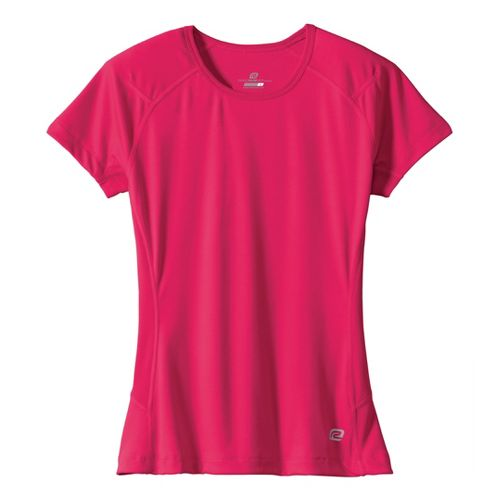 Womens Road Runner Sports Run, Walk, Play Crew Short Sleeve Technical Tops - Lipstick S ...