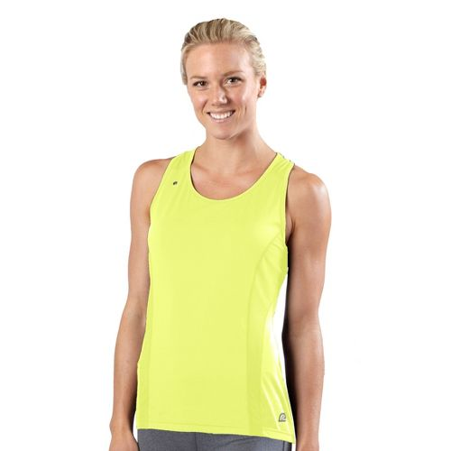 Womens R-Gear Runner's High Singlet Technical Tops - Citron L