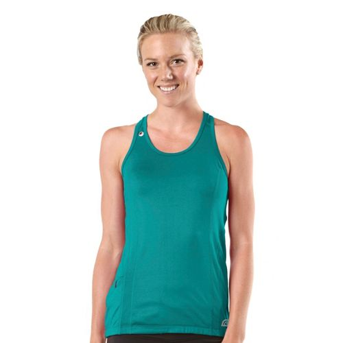 Womens R-Gear Runner's High Singlet Technical Tops - Teal Appeal L