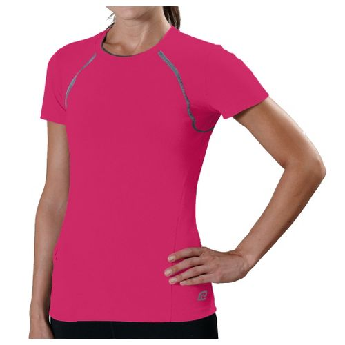 Womens R-Gear Perfect Run Short Sleeve Technical Tops - Haute Pink L