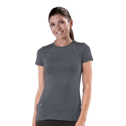 Womens R-Gear Perfect Run Short Sleeve Technical Tops - Heather Charcoal XS