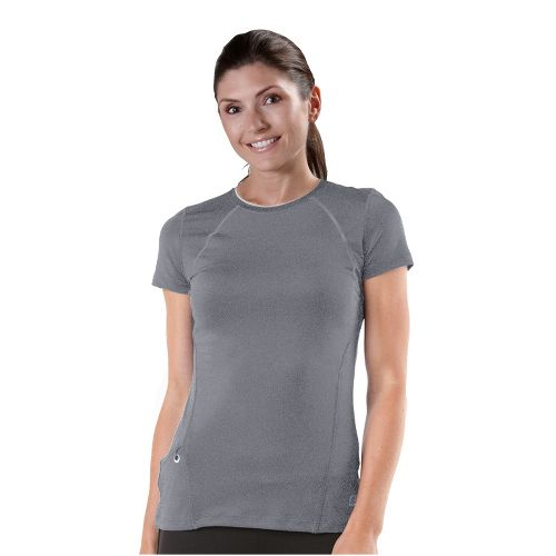 Womens R-Gear Perfect Run Short Sleeve Technical Tops - Heather Grey S