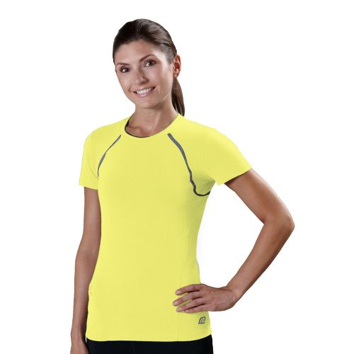 Womens R-Gear Perfect Run Short Sleeve Technical Tops - Limelight S