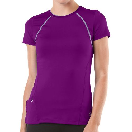 Womens R-Gear Perfect Run Short Sleeve Technical Tops - Purple Shock XL