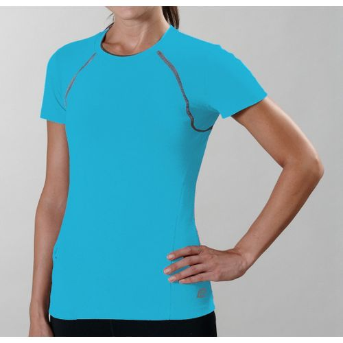 Womens R-Gear Perfect Run Short Sleeve Technical Tops - Wave Blue XS