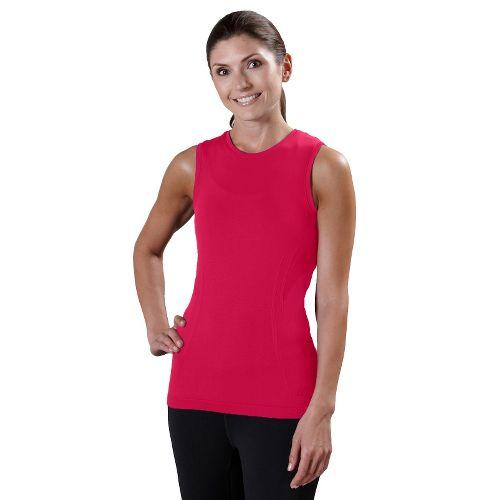 Womens Road Runner Sports Feel Great Seamless Sleeveless Technical Tops - Watermelon S