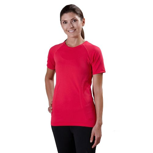 Womens Road Runner Sports Feel Great Seamless Short Sleeve Technical Tops - Watermelon L