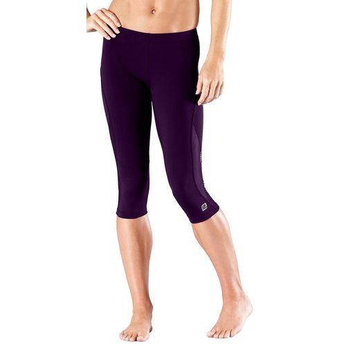 Womens R-Gear High-Speed Compression Knicker Capri Pants - Plum Pop M