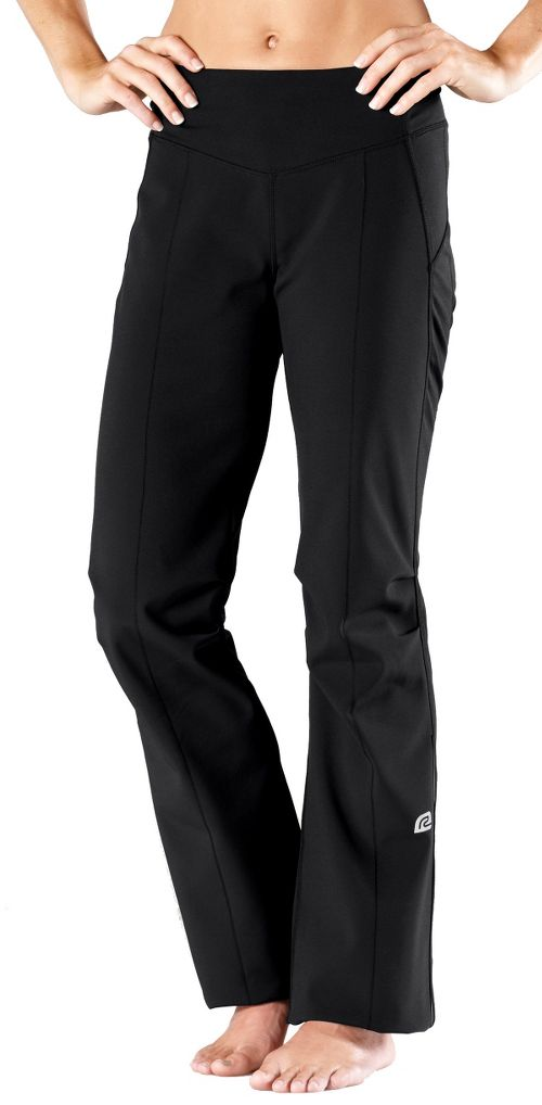 Womens Road Runner Sports Second Wind-Front Cold weather Pants - Black XS