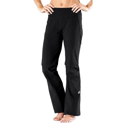 Womens Road Runner Sports Second Wind-Front Cold weather Pants - Black M