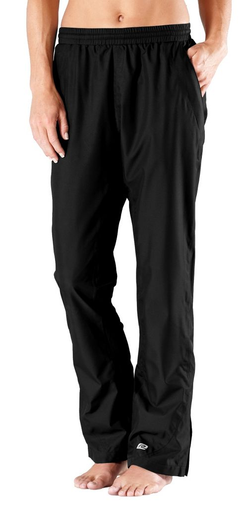 Womens Road Runner Sports In Your Element Rain Cold weather Pants - Black XS