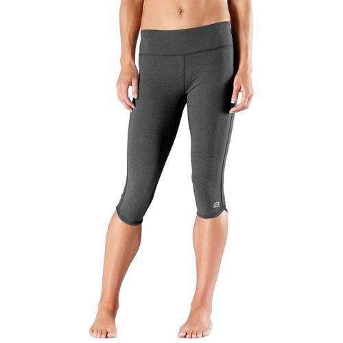 Womens R-Gear Free Form Tight Capri Pants - Heather Charcoal L